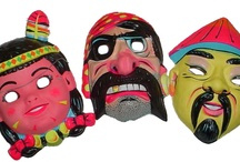 Cheesy Halloween Masks / These represent the odd years where wearing full-on plastic costumes seemed like a great idea (from the 60s-80s). The sheer variety of them is staggering and strangely awesome.