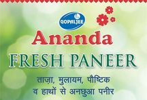 Ananda Paneer / Ananda Paneer offers a hygienic and international quality product that is having smooth, uniform texture and softness. Ananda paneer is high on fat and low on moisture.
