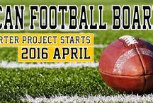 american football / Coach - The American Football Board Game. The Kickstarter Project stars: 2016 April