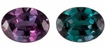 Color Change Gemstones / These genuine gemstones have the extraordinary property of changing colors in different light sources such as from incandescent to natural lighting.  It's like 2 gems for the price of one!