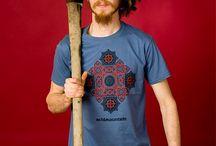 .acidMountain / Clothing, unique design- screen printed Tshirts