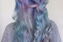 Mermaid Hair / ~Colorfull hair ~ ~Mint, turquoise, pink and violet~
