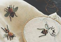 cloth, felt, scissors / and lots of fibers and felting / by Marla Brinkerhoff