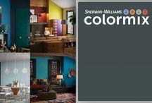 Краски для стен: модные палитры  цветов / Компания Sherwin-Williams выпустила 4 палитры дизайнерских красок, представляющих все тренды сезона: уют в городе, спа-настроение, магия ночи и поп-арт.