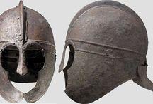 Ancient helmets Roman imperial helmets / Roman helmets - Weisenau helmets - Niedermörmter helmets - Weiler helmets - Niederbieber helmets - Gallic helmets - Roman gladiator helmets - Italic helmets