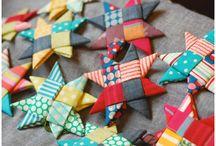 Fabric folded star