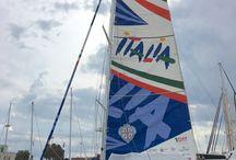 Italia / Italia è il nome della barca a vela guidata dal navigatore oceanico Gaetano Mura impegnato dal 15 ottobre 2016  in Solo Roun the Globe Record ovvero il giro del mondo in barca a vela, in solitario, senza scalo e senza assistenza.