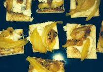 Crostini d'autunno con ficchi, finocchi, gorgonzola e noci tostate / Crostini de toamna cu smocchine, fenicul, gorgonzola si nuci prajite