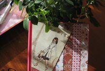 Różowy Paryż / Notes wykonany w stylu scrapbook. Motyw Paryża w różowych akcentach.