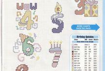Anniversaire compleanno / Point croix