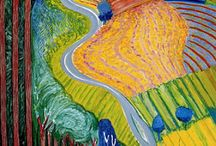 David Hockney - water/perspective/landscape
