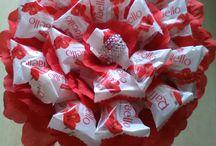 bukiet słodycze
