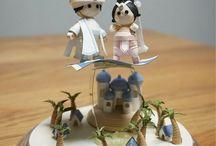 Quilling miniature scenes