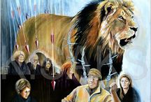 Cecil the Lion / #cecilthelion,#art,#painting,#garethpatterson,#bloodlions,#cannedlionhunting