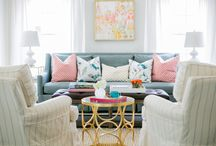 LIVING ROOMS - BEK DESIGN / These are living rooms designed by Jana Bek Design through E-Design, interior design accomplished via email, Facetime, & phone exchanges. Jana has worked with clients in cities & countries around the world.  Jana Bek Design has been featured on the blogs of Pottery Barn, West Elm, Ballard Designs, Land of Nod, House Beautiful, & on CNN.com, Inspired by This Blog, iVillage, & in HGTV magazine.