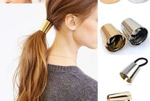 Metal cuff pony tail holder