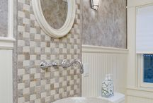 Powder Rooms / Powder rooms and guest baths are what we share with people outside of our intimate family. They are usually compact and we want them to be lovely.... / by Feinmann, Inc. Design Build