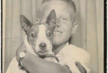Vintage photo booth / Vintage photo booth with dog