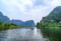 Ngo Dong river, Vietnam / #NgoDong river- the name itself brings a very#romantic sentiment. Sailing boat on the river in the harvest, the #golden of rice surely makes an unforgettable memory in #tourists' mind and is more peaceful and #quiet.