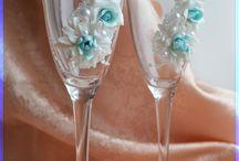 bicchieri decorati
