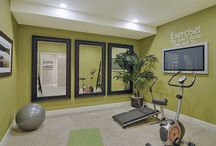 Exercise and yoga room