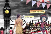 Layouts with the kit Bundle City Trip in London by PerlineDesign / The wonderful pages made by my Creative Team and myself