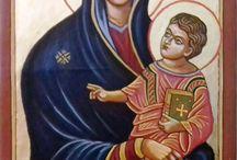 Istenanya a gyermek Jézussal, ikonok