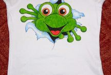 Malování na tričko, textil / malování textilií