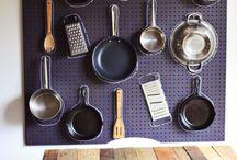 Genius Kitchen Storage: Pegboards