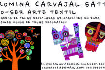 Mis Creaciones Co-Ser Arte Textil @rocasatt #rocasattart / Arte textil con telas recicladas.