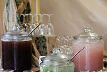 Serving / Fancy glassware & garnish ideas