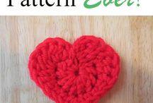 Crochet heart patterns