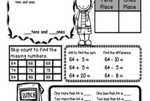 second grade math / by Becky Saunders