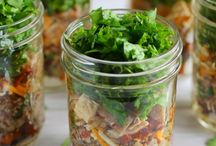 Lunch on the go / Salad jars