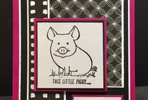 "Stampin' Up! This Little Piggy / These are cards and projects I've created using ""This Little Piggy"" by Stampin' Up!. Full supply lists can be found on my blog www.stampwithpeggy.com come check it out."