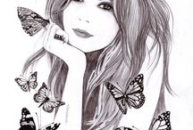 fashion portraits illustration by Nataliia Ignatiadi