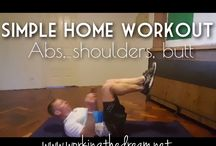 Simple Home Workouts / Simple things we do at home when there's no time to get the gym