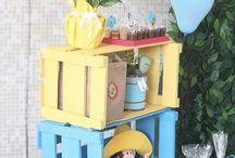 décor com caixotes