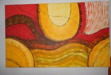 pintura em tela - abstração