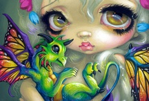 big eyes fairies and j,b, griffith art, and others / big eyes fairies