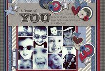 Multi photo ~ scrapbook layout