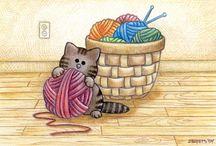 Картинки (шитьё) / Картинки для декупажа и скрапа на швейную тему