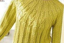 round yoke / knitting