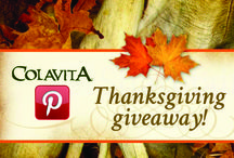 "A Colavita Thanksgiving Giveaway / Follow our board,pin, and ""like"" both individual recipes from, as well as our entire collection of Thanksgiving recipes in order to win a $125 Italian Bounty Basket, full of Colavita products! Share your pins on your Facebook, too! These Thanksgiving recipes are not only healthy, but also sure to be a hit at the family table this year!  #giveaway #italianstylethanksgiving #healthythanksgiving / by Colavita Extra Virgin Olive Oil"