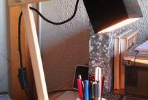 Wooden modern lamp