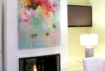 Large lounge painting ideas