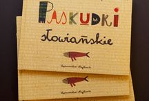 Paskudki słowiańskie / children book about slavic frights / It is a set of rhymes about slavic mythology's characters with illustrations by Maria Dek  Text by: Magdalena Mrozińska Published by: Myslanki