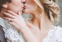 A wedding -kissing