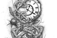 Tattoo-Ideen / Uhr mit Tribal
