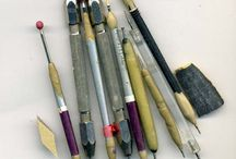 Clay Tools and Helpers / Hand made, found treasures and other tools for sculpting and designing.